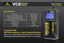 XTAR VC2 18350 18500 18650 18700 14500 16340 17500 Li-ion LED Battery Charger
