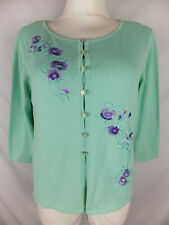 ESCADA Twin-Set - 38 / 40 - mint lila - Blumenstickereien - ein Traum - TOP