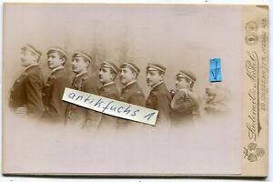 Studentika Kabinett-Foto von 1900 aus Königsberg : 7 Studenten mit Hund
