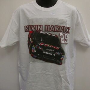 Kevin Harvick # 29 Chase Authentic's White Draft T-Shirt  Free Ship Adult Large