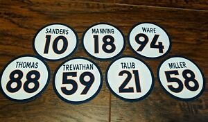 2015 Denver Broncos Team Magnets - Peyton Manning, Von Miller, Demaryius Thomas