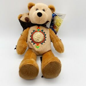 Limited Treasures Sacagawea & Pomp The Golden Dollar Coin Bear Tag Coin Attached