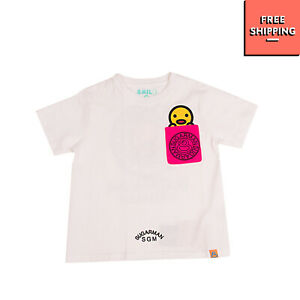 SUGARMAN* FOR ANTONIA EXCELSIOR T-Shirt Top Size 4Y Coated Logo Short Sleeve
