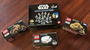 TAKARA TOMY TOMICA STAR WARS CARS SET OF 3, And STORMTROOPERS FIGURES