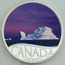 2017 $10 Celebrating Canada's 150th: NL - Iceberg at Dawn 1/2 oz. Pure Silver