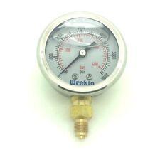 Hydraulic Glycerin 50mm - 1/8 Bottom Entry  0-6000 PSI 400 Bar Gauge GB50400/02