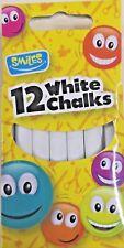 CHALK Sticks White Packet x12 Chalk Boards Playground Craft