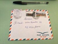 Republique Centrafricaine  to France Airmail stamps Cover Ref 51456