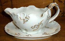 Vintage Porcelain 2 Piece Gravy Boat - Robert Haviland Charles Field - France