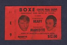 RARE 1976 Canada Championship Fernand Marcotte vs Lawrence Hafey boxing ticket