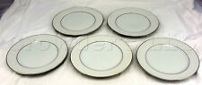 Crown Victoria Fine China Lovelace Silver Rim Rimmed Dish Plates - Set of 5