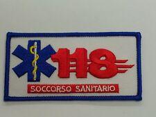 TOPPA PATCH 118 MAXI RICAMATA SOCCORSO SANITARIO CON ESCULAPIO AMBULANZA AUTISTA