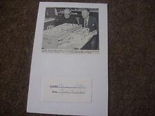 Sir Bernard MILES  Actor  1975   Original HAND SIGNED  Display
