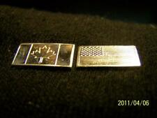 1-***AMERICAN***FLAG &1-***CANADIAN****FLAG TWO GRAMS OF.999 SILVER BULLION BARS
