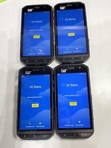 LOT OF 4 CAT S48C Rugged (Sprint) Smartphone - Black - GOOGLE LOCED READ! B11:5