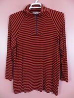 STK2661- PRIVATE EDITION By CHICO'S Women's Slinky Travel Knit Jacket Stripe 2 L