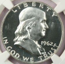 1962 1962-P Franklin Half Dollar NGC PF68 Cameo CAC Beautiful coin!