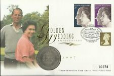 GB QE11 1997 GOLDEN WEDDING COIN COVER