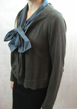 Hoss Intropia Size L or 14 Brown Blue Open Cardigan