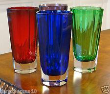 Faberge Crystal Milano Rocks Hi Ball Beverage Water Glasses Set Of 4