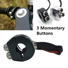 Full CNC Momentary Switch Motorcycle Cafe Racer Handle Bar Reset 3-Key Button 1x