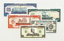 5 different Haiti xf-Au 1, 2, 5, 10, 25 Gourdes