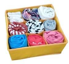 9 Cells Socks Underwear Ties Drawer Closet Home Organizer Storage Box Case