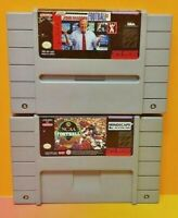 John Madden NFL + NCAA Football - Super Nintendo SNES Authentic Game Tested