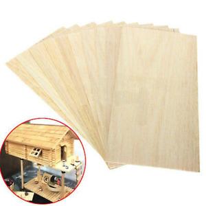 10Pcs 200x100x1.5mm Wooden Plate Model Balsa Wood Sheets DIY House Ship Aircraft