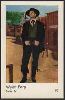 Wyatt Earp - Hugh O'Brian - 1962 Vintage Dutch Serie N Movie Star Gum Card #90