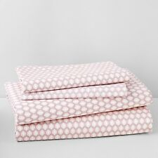 Sky Bedding Amelie Printed Cotton Sateen Sheet Set Pink Z552