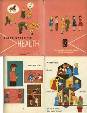 FIRST STEPS TO HEALTH Oliver E. Byrd 1963 Naylor Illustrator Vintage  Schoolbook