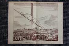 Längstes Fernrohr Astronom Hevel Hevelius 1670 DRUCK von 1903 Danzig