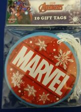 10 x Marvel Avengers Gift tags- Birthdays, Christmas, gifts, party