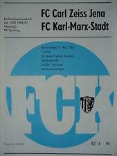1986/87 programme FC Karl Marx Stadt-CZ Jena