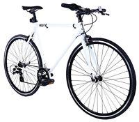 Golden Cycles Velo Revo Shift 7 speed Bicycle Bike White 41 45 48 52 55 59 62 CM