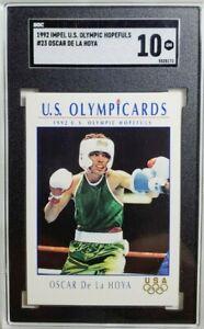 1992 Impel USA Olympic #23 Oscar De La Hoya Rookie Card RC SGC 10 Gem Mint POP 7
