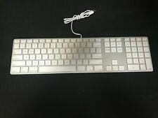 Apple White Aluminum USB Wired Keyboard iMAC G3 G4 G5 eMAC A1243 Slim TESTED