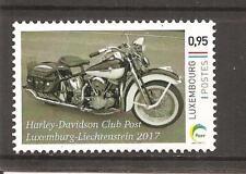 Motorrad, Harley Davidson Electra Glide, stamp mint Luxemburg