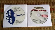 2 CDG DISCS TEEN KARAOKE HITS JUSTIN BIEBER/MILEY CYRUS 2011/2012 CD+G SONGS