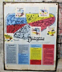 DISNEYLAND PARK MAP Handmade Disney World vintage sign