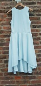 🔥🔥 ASOS PALE BLUE DROP HEM DRESS UK6