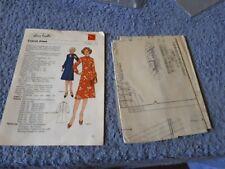 Vintage 1970s Silver Needles sewing pattern No: 14 Cravat dress uncut