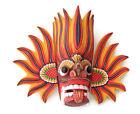 "Wooden Handmade Sri Lankan Traditional Fire Mask 8"" Wall Hanging Decorative Art"