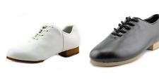 Dance Shoes Clogging Buck Regular Black White Full Split Sole CHILD AND ADULT