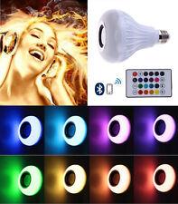 12W E27 LED RGB Wireless Bluetooth Speaker Bulb Light Music Playing Lamp +Remote