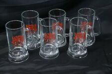 "Jos Huber Brewing Co Stein Mugs 6.5"" Lot of 6"