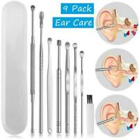 1 Set Stainless Steel Ear Pick Wax Remover Curette Scoop Spoon Clean Tool UK