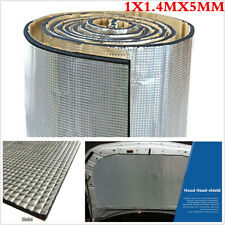 Car Engine Hoods Acoustic Thermal Insulation Deadening Sound Proofing 5mm 1x1.4m