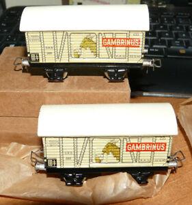 Märklin 388 - Doppelpackung Gambrinus Blechgüterw.,neuw, Ork